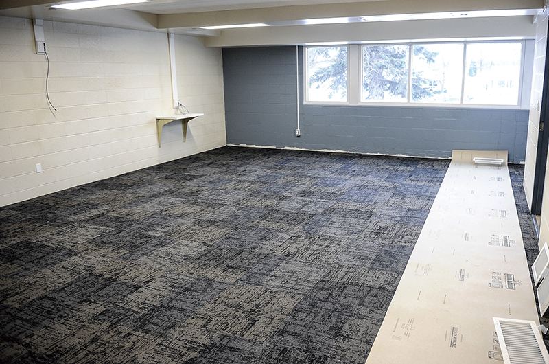 One of the rooms that are nearly ready at the Corcoran Center. - Eric Johnson/Albert Lea Tribune