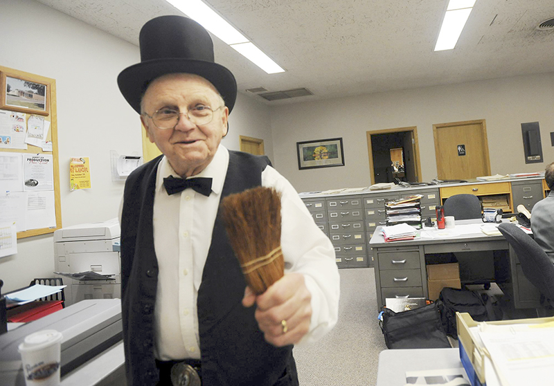 Ed Shannon enjoyed dressing up for Tribune Halloween parties, including in 2011. - Photo courtesy Brie Cohen