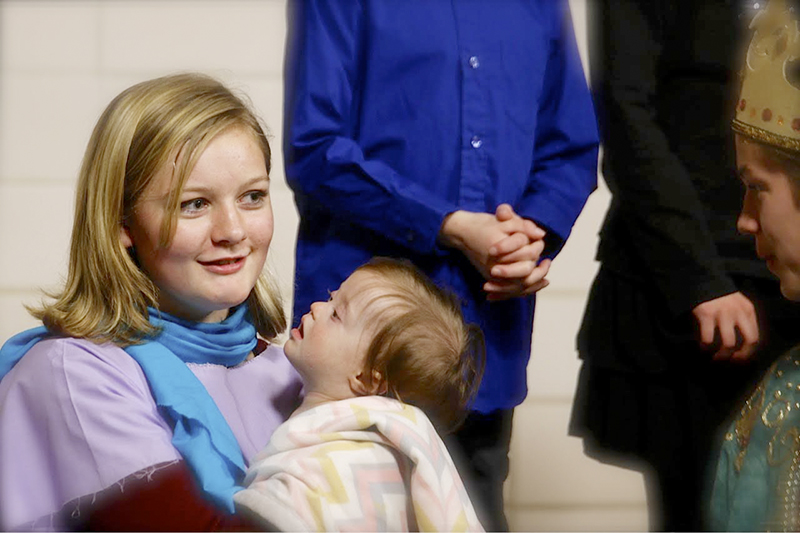 Sydney McCarthy was Mary with baby Jesus played by Sydney Pratt. - Ruthanne De Haan/For the Albert Lea Tribune