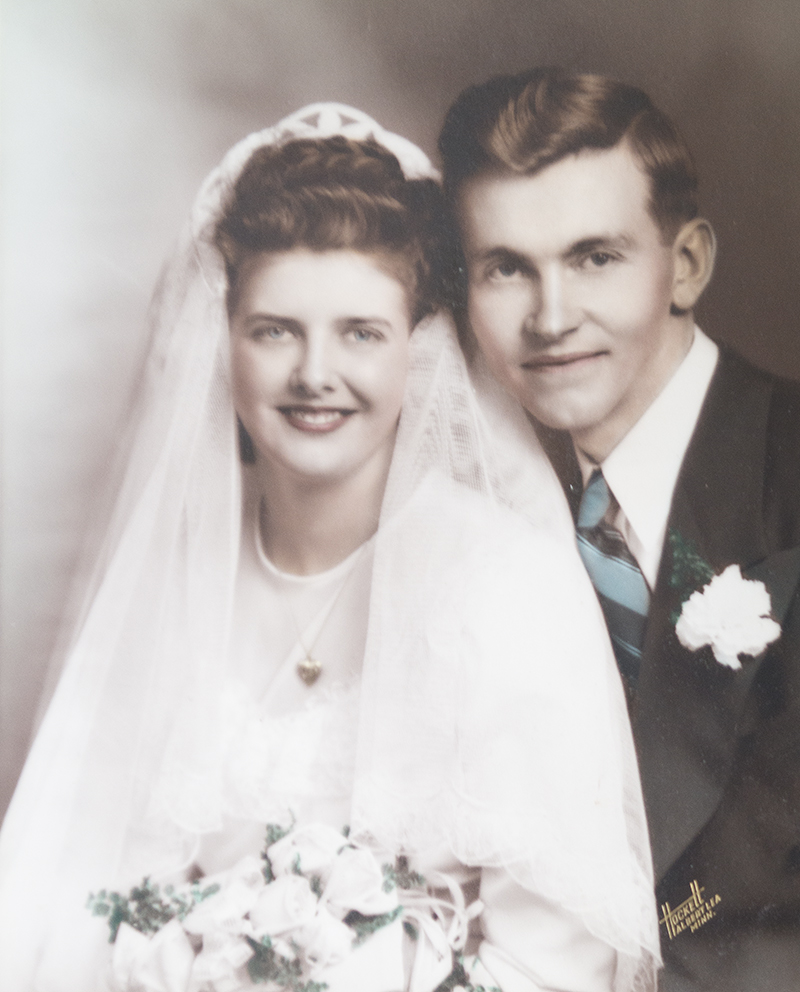 The Nelsons were married Jan. 12, 1947, at Calvary Baptist Church in Albert Lea. - Provided