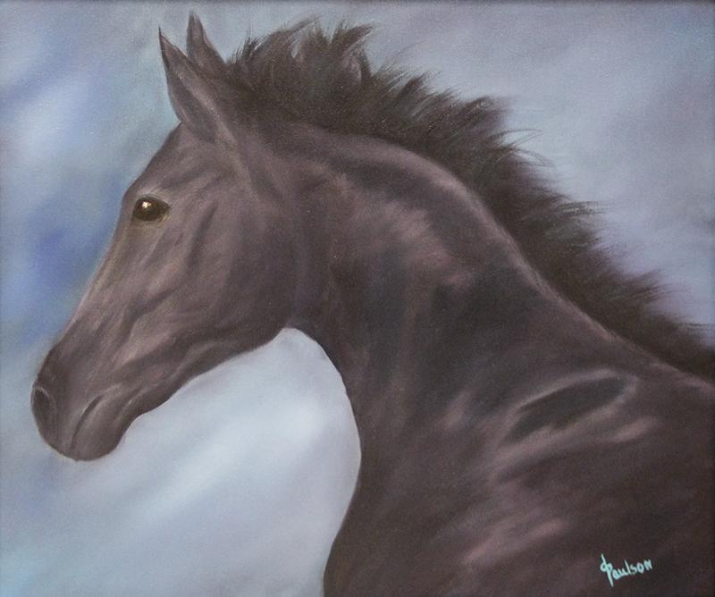 Paulson said animals are her favorite thing to paint. Sarah Stultz/Albert Lea Tribune
