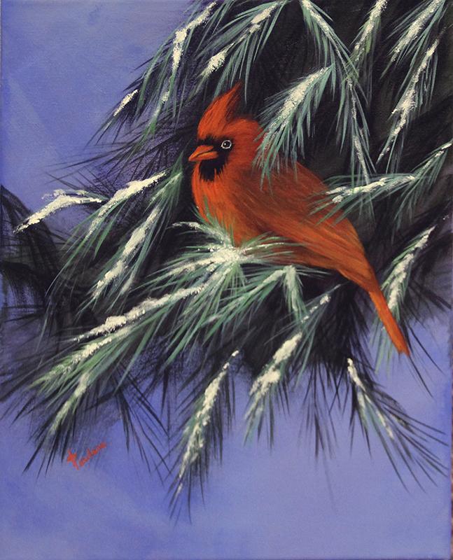 Paulson began painting in 2010 and has been hooked ever since. Sarah Stultz/Albert Lea Tribune