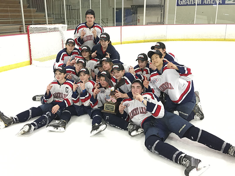 The Albert Lea A Bantam hockey team won its fourth championship in Rochester this past weekend. Albert Lea beat three teams, including Sioux City, Iowa, to win the championship. Team members are (in no order): Bradley Horecka, Logan Barr, Campbell Cichosz, Danny Chalmers, Samuel Yoon, Carson Stadheim, Markus Dempewolf, Owen Zelenak, Blake Ulve, John Jensen, Isaiah VanRyswyk, Jacob Prihoda, Logan Hacker, Hayden Johnston and Spencer Clark. provided