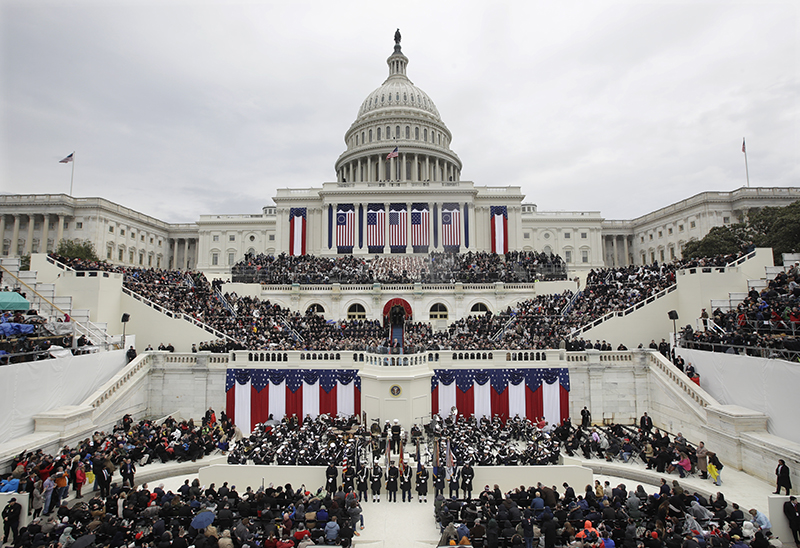 President Donald Trump delivers his inaugural address after being sworn in as the 45th president of the United States during the 58th Presidential Inauguration at the U.S. Capitol in Washington, D.C., on Friday. - AP Photo/Patrick Semansky
