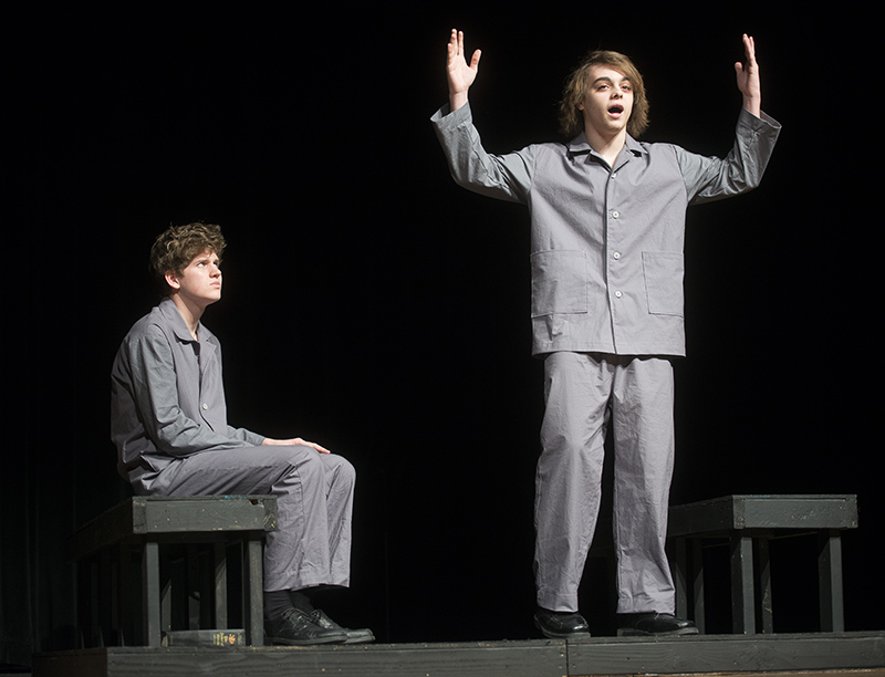 """Albert Lea High School student actors will perform """"Every Good Boy Deserves Favour"""" today during a one-act play competition today at the high school. Colleen Harrison/Albert Lea Tribune"""