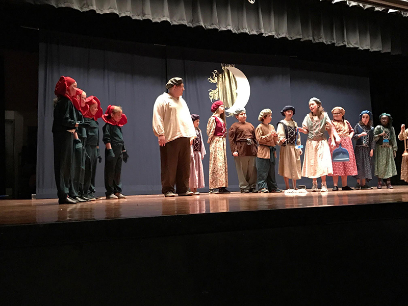 """Lakeview Elementary School students recently put on their own production of """"Beauty and the Beast."""" - Provided"""