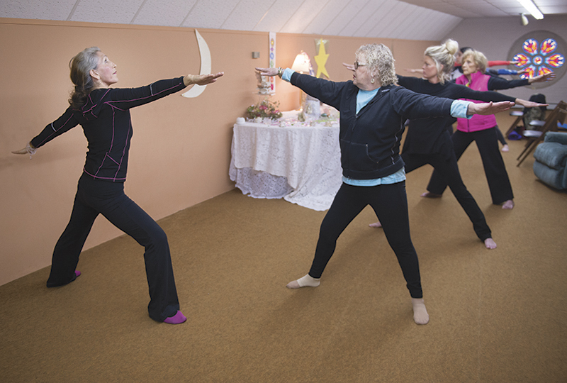 Clemencia Gujral has been practicing yoga for 45 years and has been teaching yoga for 43. - Colleen Harrison/Albert Lea Tribune